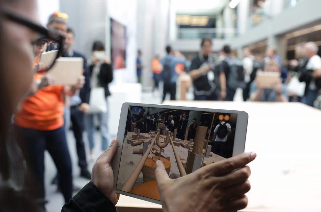 iPad user at WWDC 2018